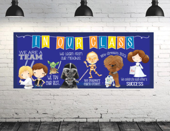 STAR WARz / space theme - Class Decor: LARGE BANNER, In Our Class - horizontal