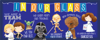 STAR WARz theme Classroom Decor: LARGE BANNER, In Our Class - horizontal