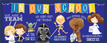 STAR WARz theme Classroom Decor: LARGE BANNER, In Our School - horizontal