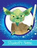 STAR WARz theme - Classroom Decor : Student FOLDER Cover - FREE