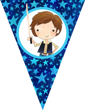 STAR WARz theme - Classroom Decor, Triangle Banners, EDITABLE, PowerPoint