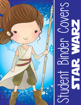 STAR WARz theme - Student Binder Covers / MS PowerPoint, you personalize