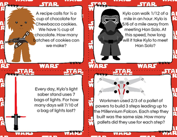 STAR Wars Dividing Fractions (Word Problems)