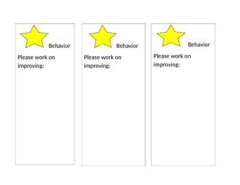 STAR cards for Whole Brain Teaching Practice