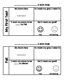 STAR reading and math goal setting
