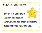 STAR student behavior posters