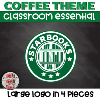 STARBOOKS Large Logo in 4 pieces for your Coffee Themed STARBUCKS LIKE