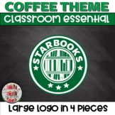 STARBOOKS Large Logo in 4 pieces for your Coffee Themed