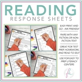 Reading Response Sheets for Fiction and Non-Fiction Texts