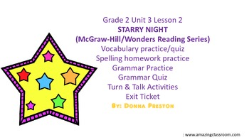 STARRY NIGHT: Vocabulary, Spelling & Grammar Practice