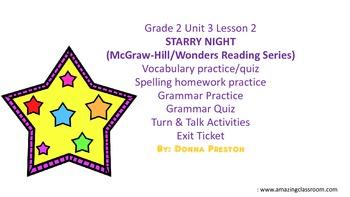 STARRY NIGHT: Vocabulary, Spelling & Grammar Practice