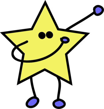 STARS PARTY FREEBIE-11 FREE CLIPART BW/COLOUR