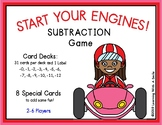 START YOUR ENGINES! Math Game SUBTRACTION