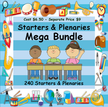 STARTER & PLENARY MEGA BUNDLE - 2 RESOURCES - ONE DISCOUNTED PRICE -240 IDEAS