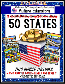 50 U.S. STATES Adapted Books GROWING BUNDLE United States