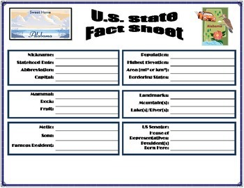 STATE FACT SHEET - WORKBOOK