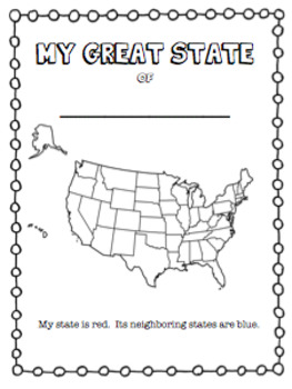 STATE RESEARCH PROJECT/BOOK- To be used with ANY of the 50 States!