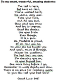 STATE TEST POEM - MOTIVATE YOUR STUDENTS