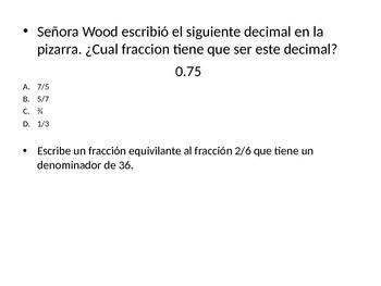 STATE TEST PREP MATH GRADE 4 SPANISH
