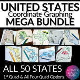 STATES Coordinate Graphing Pictures BUNDLE All 50 States