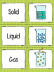 STATES OF MATTER PROPERTIES MATCHING CARD GAME solid liqui