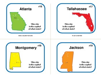 STATES and CAPITALS | Early Finishers |100 Task Cards | Test | Grade 5 Unit