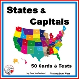 STATES and CAPITALS 100 Task Cards ...Early Finishers + Test ... Grade 5 Unit