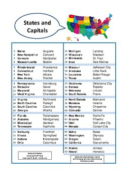 STATES and CAPITALS  CROSSWORD PUZZLES ...  PLUS  DIGITAL BONUS