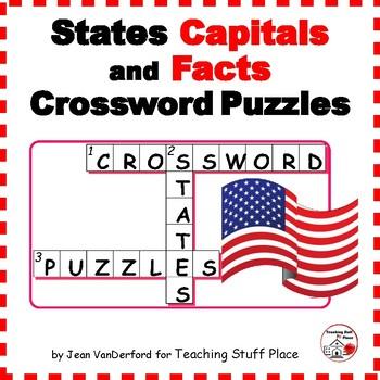 STATES and CAPITALS  CROSSWORD PUZZLES ...  PLUS  DIGITAL BONUS