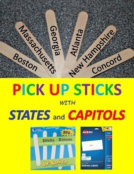 STATES and CAPITOLS  PICK UP STICKS