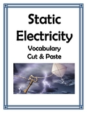 STATIC ELECTRICITY VOCABULARY CUT AND PASTE