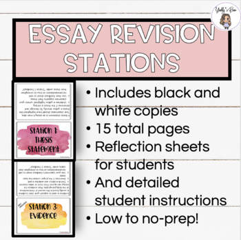 ACTIVE LEARNING STATIONS: Essay Revision using the C-E-R Framework