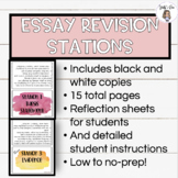 ACTIVE LEARNING STATIONS: Essay Revision using the C-E-R F