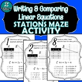 STATIONS MAZE ACTIVITY - Algebra - Slope & Linear Equations