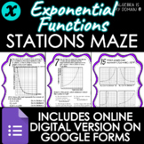 STATIONS MAZE - Exponential Functions - DISTANCE LEARNING
