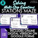 STATIONS MAZE - Solving Multi-Step Equations - DISTANCE LEARNING