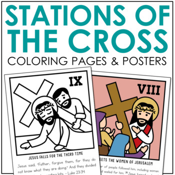 STATIONS OF THE CROSS Posters and Mini Book | Holy Week | Easter | Good Friday