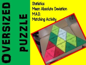 STATISTICS - Mean Absolute Deviation Over-sized Puzzle