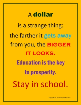 STAY IN SCHOOL POSTER