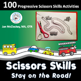 STAY ON THE ROAD!  Scissors Skills for Fine Motor Center Time!