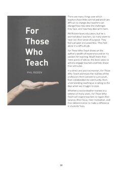 STAYING POSITIVE: CONVERSATIONS BETWEEN TEACHERS
