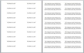 STC Soils Kit Focus Question Labels