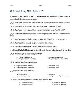 STDs and HIV/AIDS quiz