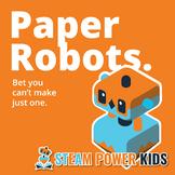 STEAM Activities - Paper Robots