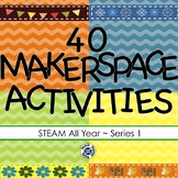 STEAM All Year Bundle - 40 Hands-On STEM Makerspace Challenges for Every Season