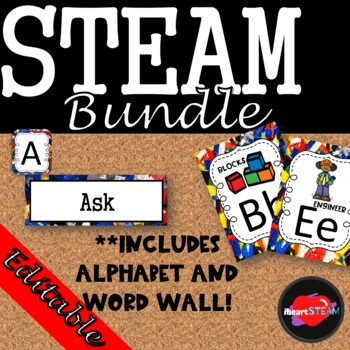 STEAM Alphabet and Word Wall Bundle
