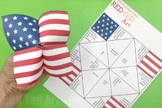 STEAM American Flag Cootie Catcher (4 Pages) - Memorial Day, 4th July, Flag Day