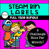 STEAM Bin and Morning Tub Labels *Full Year Bundle*