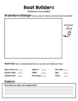 STEAM: Boat Builders Brainstorm