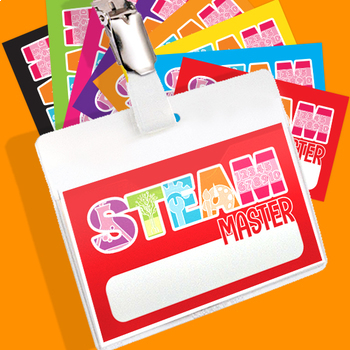 STEAM Brag Tags! 10 Assorted color layouts included